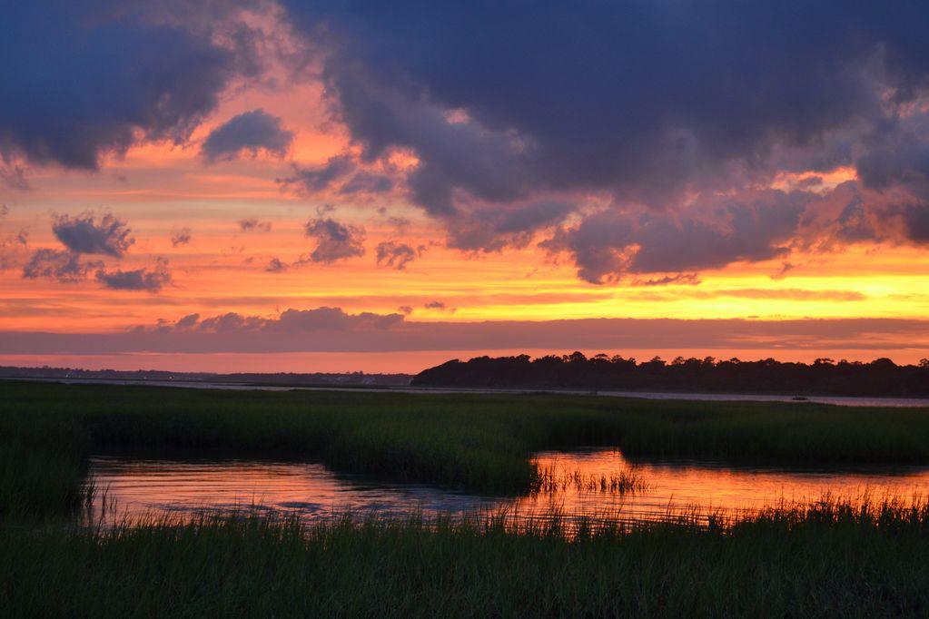 sunset at Sands Island