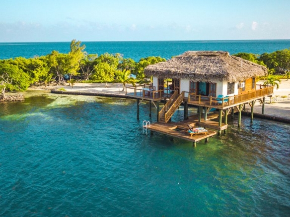 Norval Caye Belize, overwater bungalows Belize