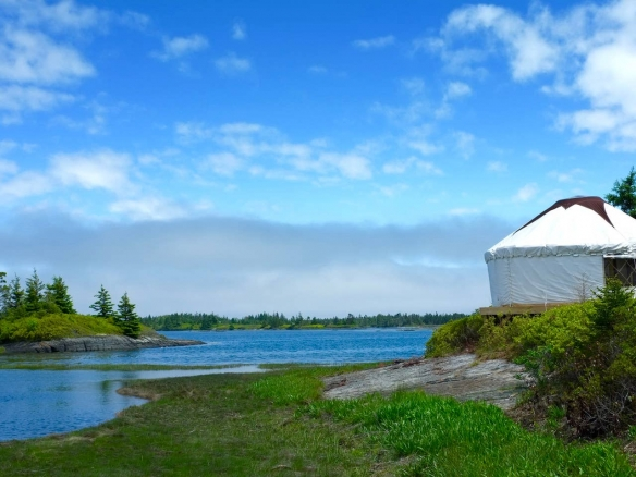 Private Island yurt in Blue Rocks, Nova Scotia