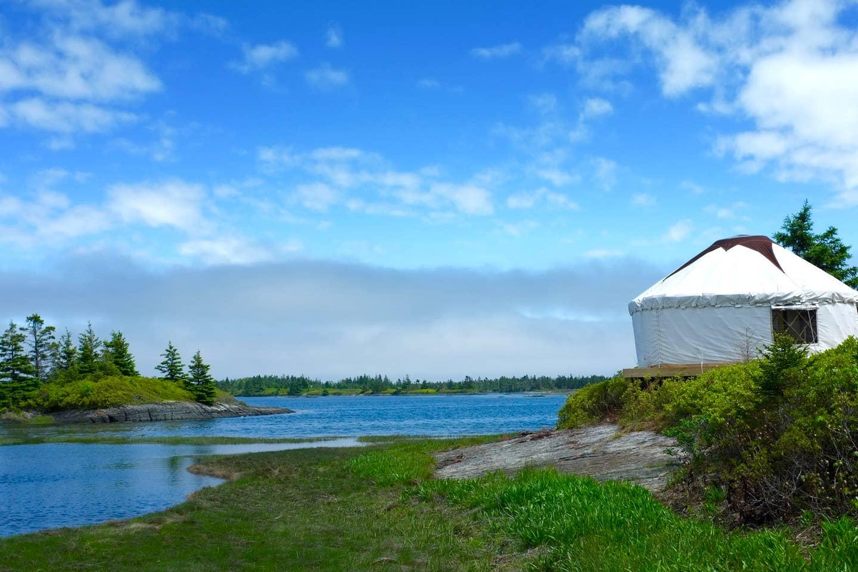 Private Island yurt in Blue Rocks, Nova Scotia