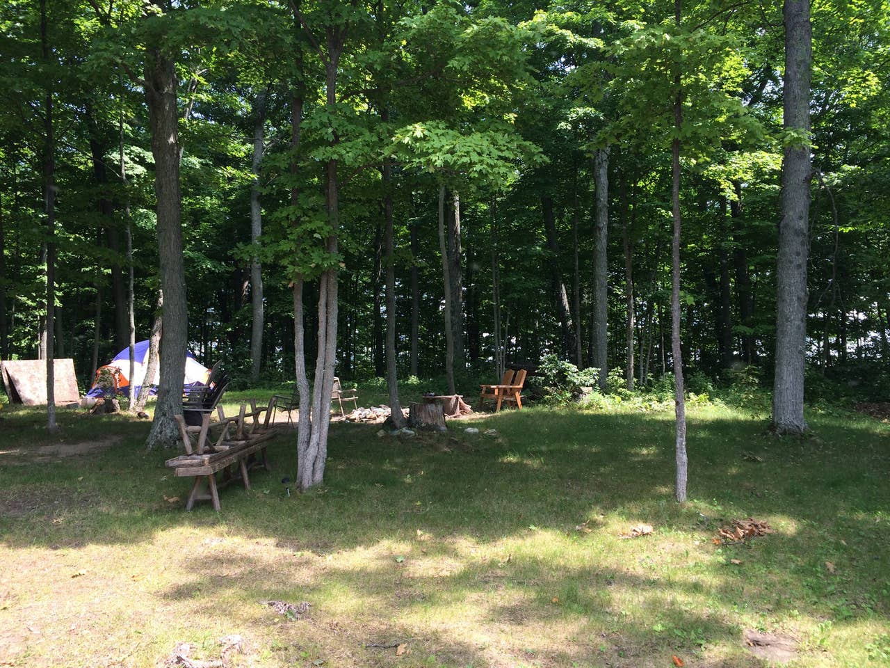 Crowe Lake private island camping, Havelock Ontario
