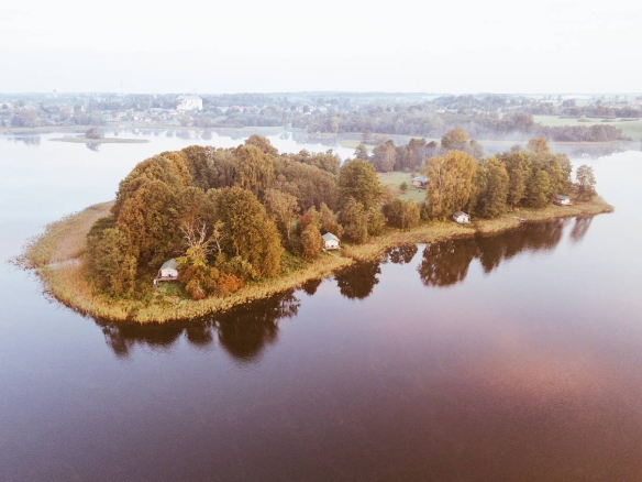 Latvia private island rental