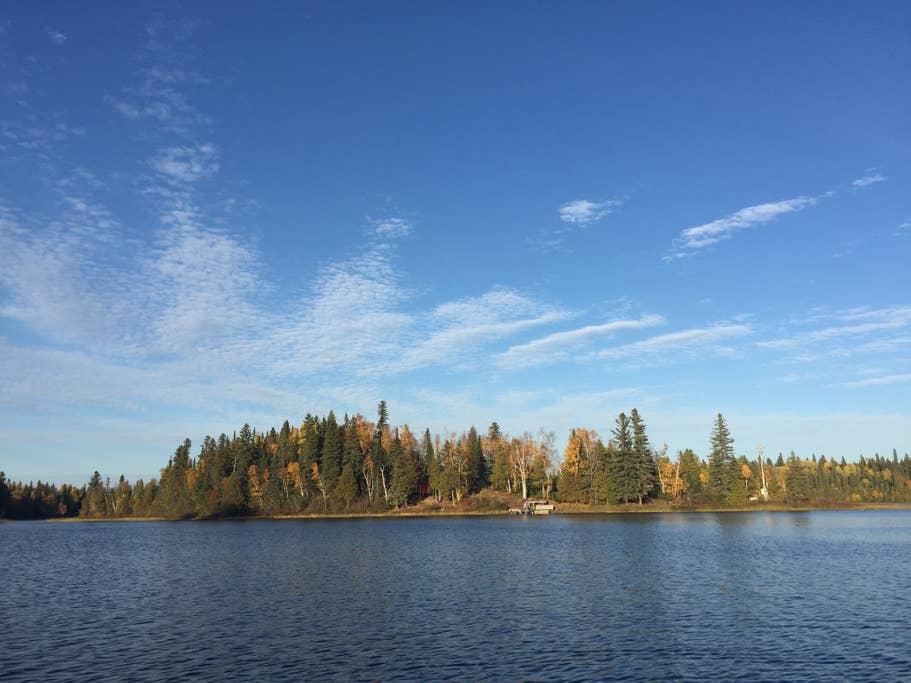 Cabin rental, Departure Lake private island, Ontario