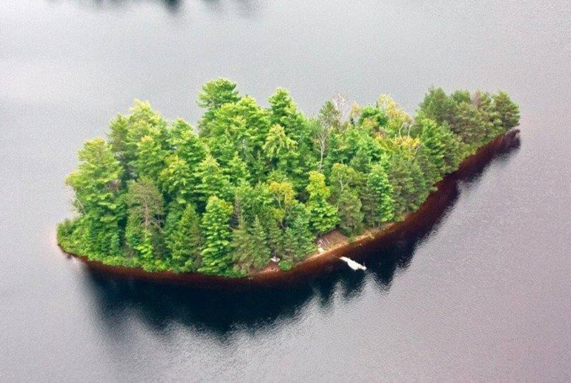 Gents Island, Ontario, private island for rent