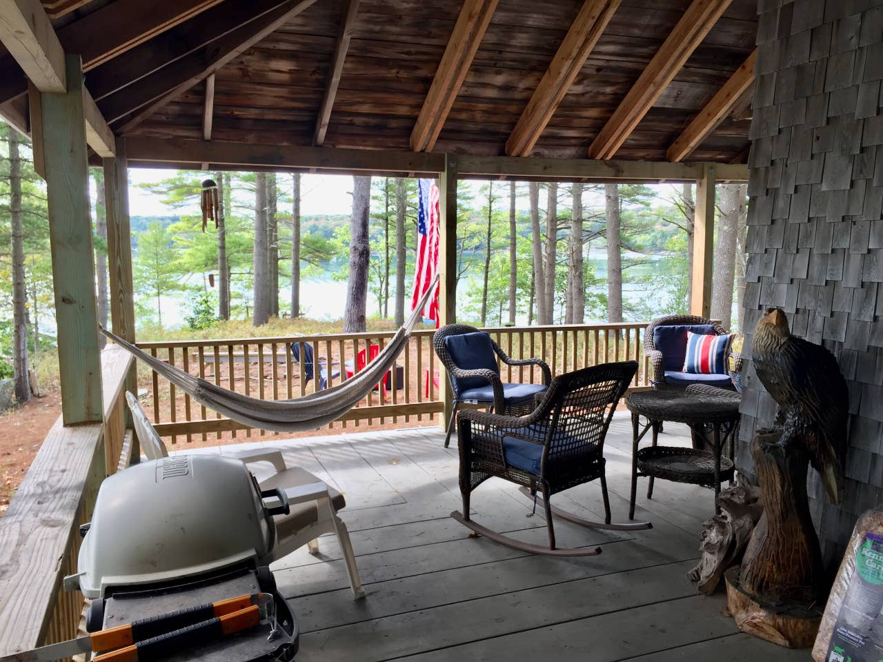 Maine private island rental
