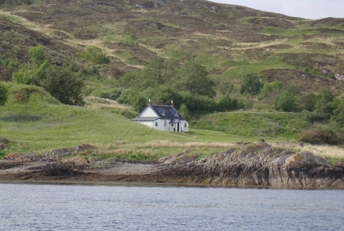 Carna House, private island rental, Scotland