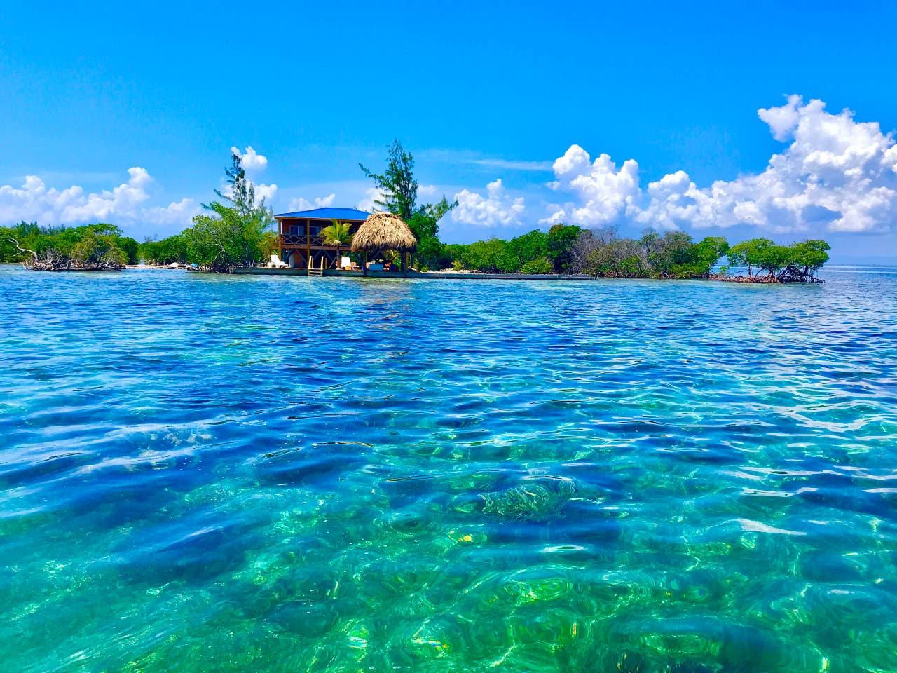 belize private island resort: Lark Caye