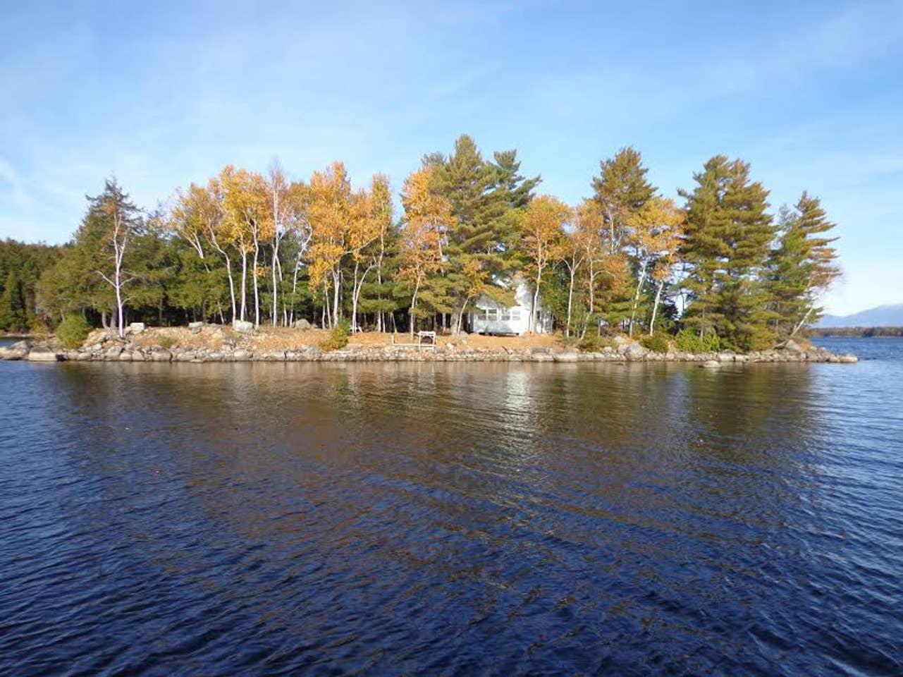 North Twin Lake, private island rental, Maine