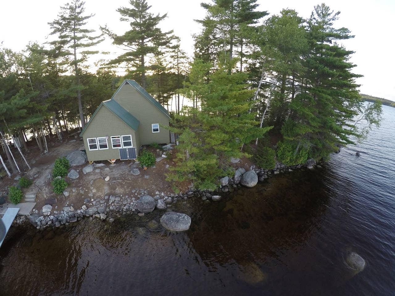 Maine private island rental